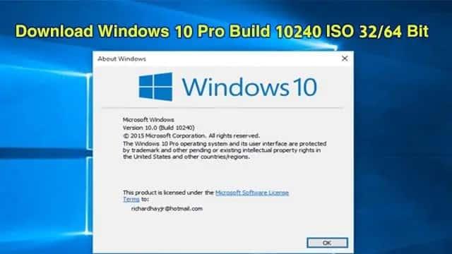تحميل ويندوز 10 برو Windows 10 Pro Build 10240 ISO 3264 Bit